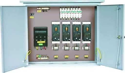 三相配电柜接线实物图
