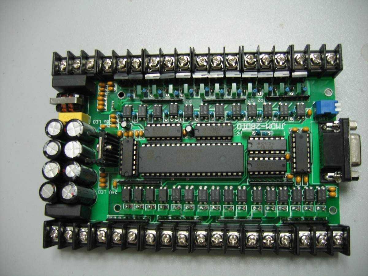 28点单片机控制板,可控制电机,晶体管输出
