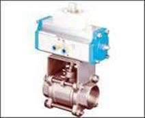 3PC)Q611F-16/64P 气动三片式球阀