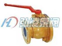 FQ41F型衬氟放料球阀