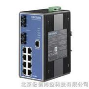 研华EKI-7559SI 10端口网管型冗余千兆以太网交换机(含2个百兆单模光口)