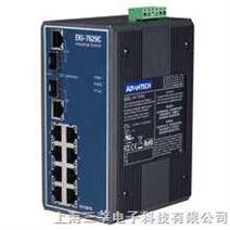 研华 EKI-7629CI 带有8个百兆电口2个千兆光口工业以太网交换机