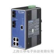 研华 EKI-7554MI 6端口网管冗余千兆以太网交换机(含2个百兆多模光口)
