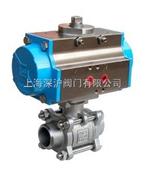 Q661F三片式气动焊接球阀