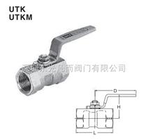 UTK UTKM KITZ不锈钢丝扣缩径球阀 北泽不锈钢球阀