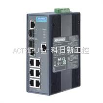 研华 EKI-2748CI/FI 6Gx+2 Combo 宽温网管型工业以太网交换机