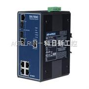 研华EKI-7654C 4+2G光电组合Combo端口网管型冗余千兆以太网交换机