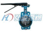 蝶阀:D71X/J手动对夹式衬胶蝶阀